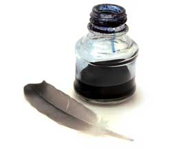 Ink Well and Quill